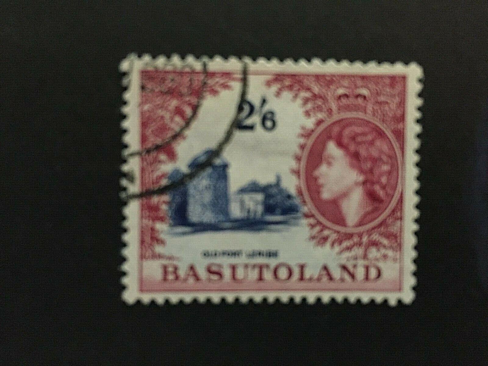 Basutoland: 1954, Queen Elizabeth definitive 2/6, crimson lake shade, SG 51a, FU