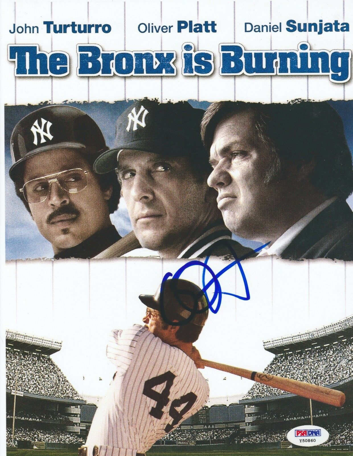 Oliver Platt Signed 'The Bronx Is Burning' 8.5x11 Photo *Yankees PSA Y50860