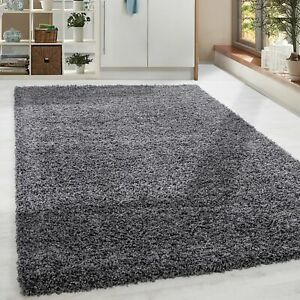shaggy poils longs poil long bon march gris tapis salon. Black Bedroom Furniture Sets. Home Design Ideas