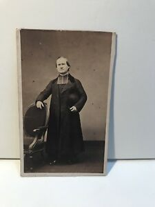 Ecclesiastico-Da-Pierre-Petit-Parigi-Foto-CDV-Carte-de-visite-Vintage-Albumina