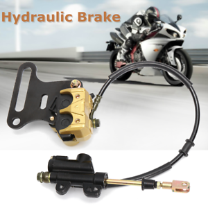 Hydraulic Rear Disc Brake Caliper System For 110cc 125cc 140cc Pit Dirt Bike ATV