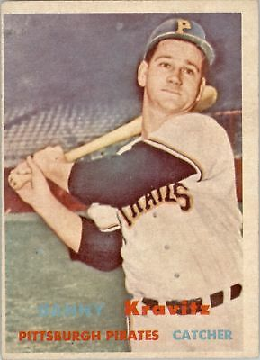 Enthusiastic 1957 Topps 267 Danny Kravitz Rc Ex #d261713 Baseball Cards Sports Trading Cards