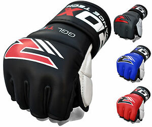 RDX-Leather-Gel-Tech-MMA-7oz-Grappling-Gloves-Fight-Boxing-Punch-Bag-T1