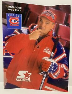 Vintage-1996-1997-Montreal-Canadiens-Clothing-Boutique-Catalogue-w-Starter-RARE