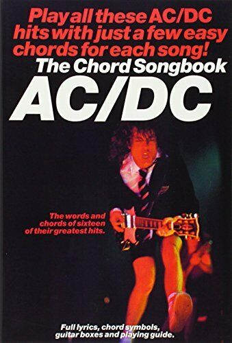 AC//DC Chord Songbook Sheet music Book The Fast Free Shipping