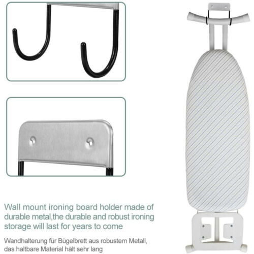 1pc Ironing Board Hanger Iron Holder Rack Wall Door Holder Home Table Hook K