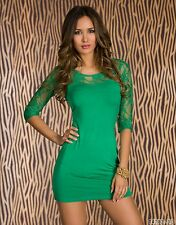 Party Club Wear Stylish Cocktail Mini Lace Dress UK size 10-12 Colours Available