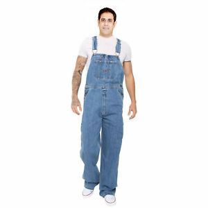 Men-039-s-Denim-Dungarees-Jeans-Bib-and-Brace-Overall-Pro-Heavy-Duty-Workwear-Pants