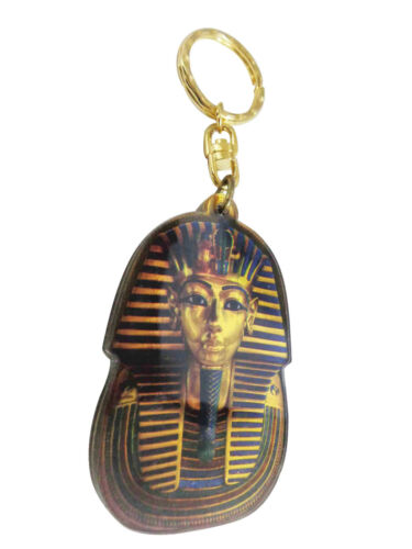 "King Tut Egyptian Keychain Key Chain Ring Acrylic 5/"" Pharaoh Egypt Pharaohs 208"