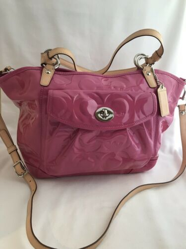 "Authentic Vintage Coach Signature ""C"" Logo Pink Pa"