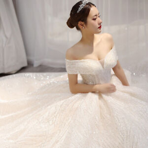 Elegant-Off-Shoulder-Wedding-Dress-Sweetheart-with-Cap-Sleeves-Lace-Bridal-Gown