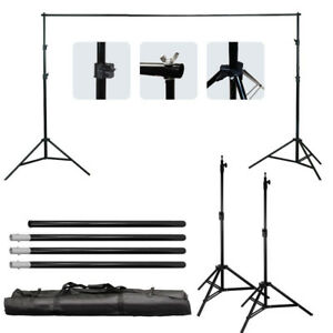 New 10Ft 2m Adjustable Background Support Stand Photography Video Backdrop Kit 800287655524