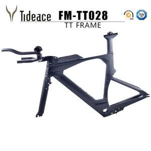 Full-Carbon-Fiber-TT-Bike-Frames-Time-Trail-Bicycle-Frameset-48-51-54CM-X-Brake