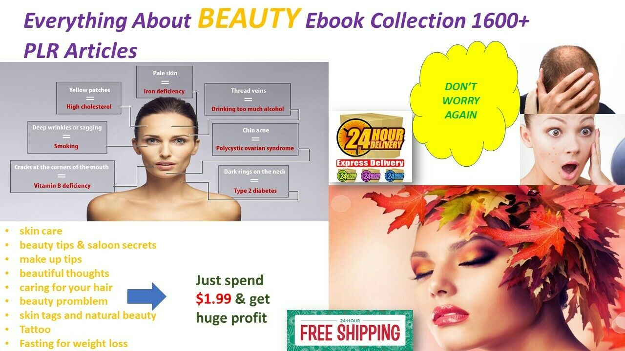Everything About BEAUTY Ebook Collection 1600+ PLR Articles
