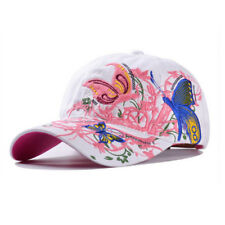 4a7d2d68548 AKIZON Baseball Cap For Women With Butterflies And Flowers Embroidery  Adjustable