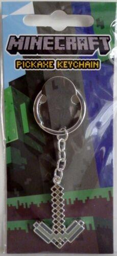 "PICKAXE KEYCHAIN Minecraft 2/"" inch Keyring Mojang Jinx 2013"