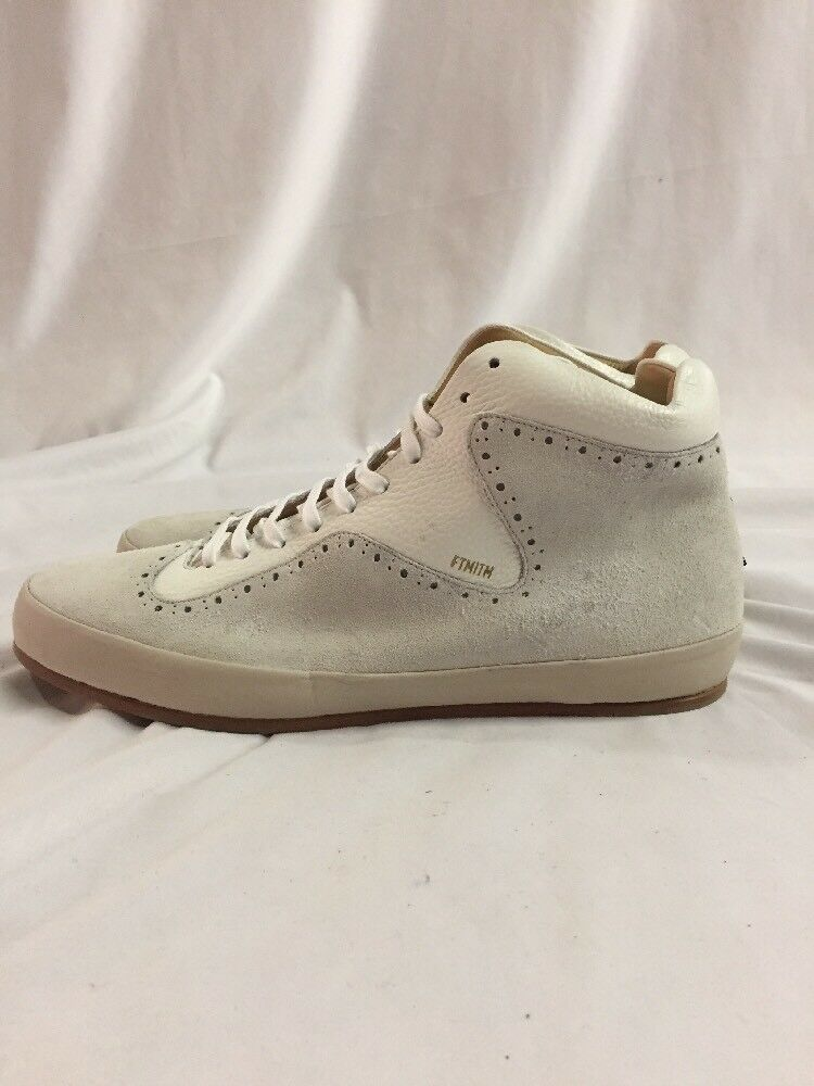 Freeman Plat COURT MID Shoes Men's Leather Boot SNEAKERS Shoes MID Size 10 Cream cf267a