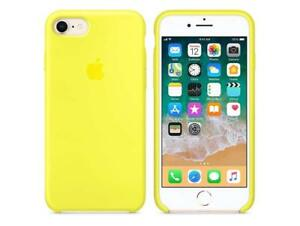 new arrivals 13b10 66378 Details about Genuine Apple MR672ZM Silicone Back Cover iPhone 8 7 Flash  Lime Green / Yellow