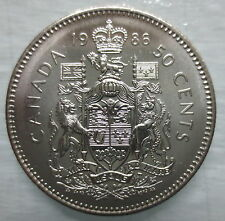 1986 CANADA 50¢ HALF DOLLAR COIN BRILLIANT UNCIRCULATED