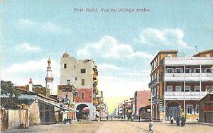 POSTCARD-EGYPT-Port-Said-Arab-Village