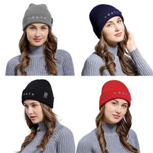 ab18ce26f4a Men Women Winter Baggy Warm Crochet Wool Knit Ski Beanie Skull ...