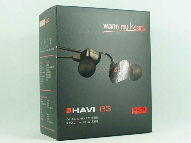HAVI B3 Pro-1 (ProI)  Dual-Driver  High Fidelity Quality Inner-Ear Earphones