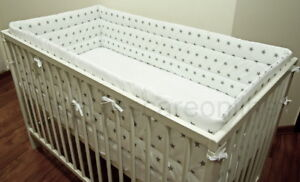All-round-all-around-Nursery-bumper-420-or-360-cm-long-Padded-4-Sided-Cot-Bed