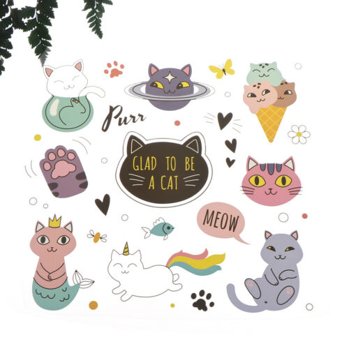 iron on patches cat heat transfer badges washable clothing deco diy applique DS