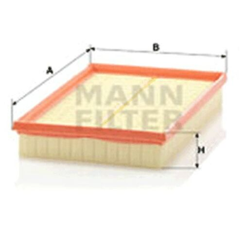 Mann C2998/5x Air Filter Element Flat 42mm Height 288mm Length 188mm Width