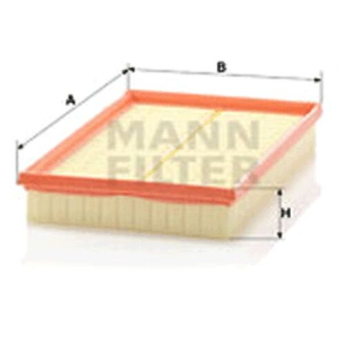 Mann C2998//5x Air Filter Element Flat 42mm Height 288mm Length 188mm Width