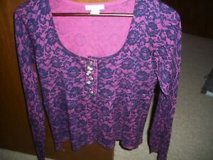 womens cardigan sweater blouse top Delia's size medium