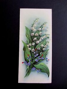 Unused Made in Germany Glitter Xmas Greeting Pop Out Card Lily of the Valley