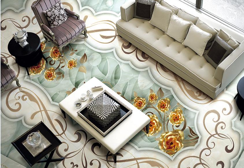 3D grau Gold Pattern 622 Floor WallPaper Murals Wall Print Decal AJ WALLPAPER CA