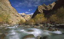 Lámina-agua Blanca Canyon River Rapids (imagen de arte cartel Mountain)