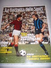 DERBY CALCIO MILAN - INTERNAZIONALE INTER FC SPECIALE GAZZETTA RIVERA FACCHETTI