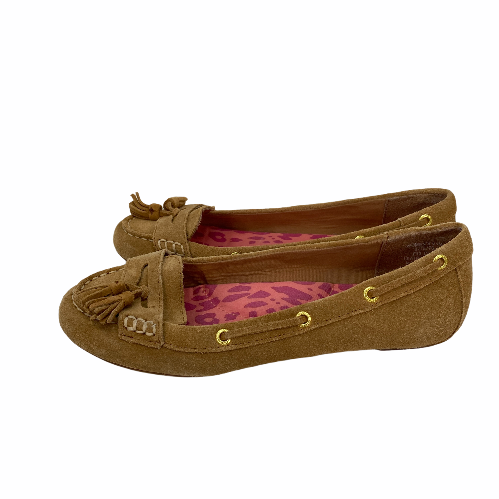 Sperry Top-Sider Brown Leather Tassel Moccasins Womens Size 6.5 M
