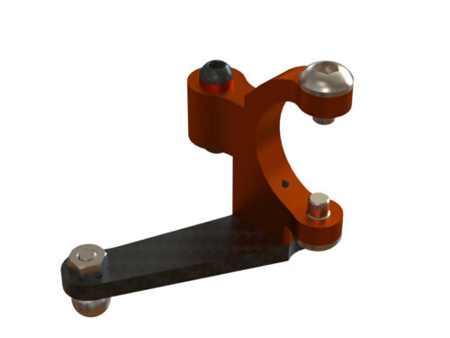 OXY3 CNC Alu Tail Bell Crank Orange