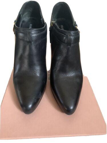 MIU MIU Black Booties 38