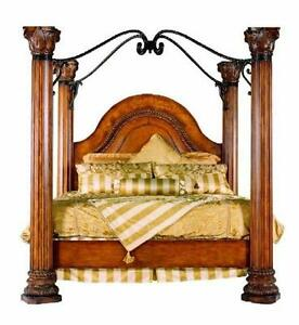 Merveilleux Image Is Loading Henredon King Bed W Metal Canopy Armoire Amp