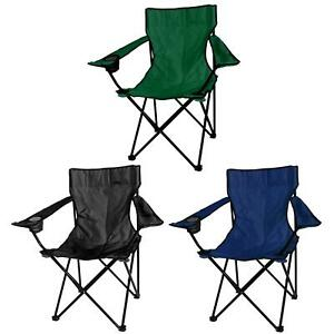 2x-Folding-Chairs-Canvas-Camping-Chair-Portable-Fishing-Beach-Outdoor-Garden-New