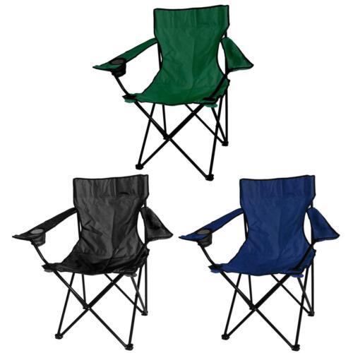 2x Chaises Pliantes Toile Chaise de camping portable pêche plage Jardin Extérieur Neuf