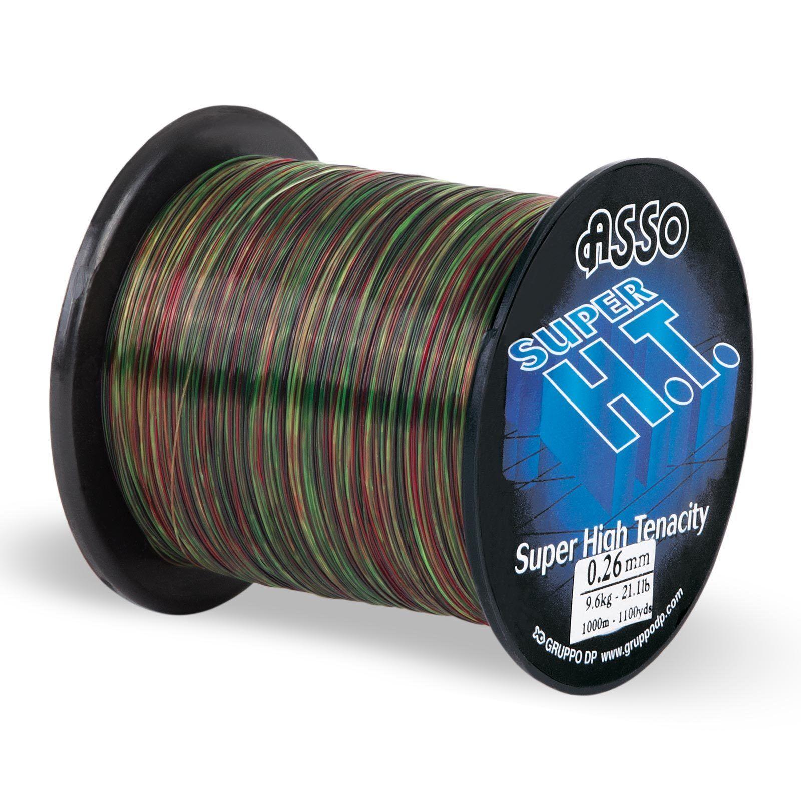 (0,04EUR m) ASSO Angelschnur Profi - Super High Tenacity 1000m 0,40mm Camo