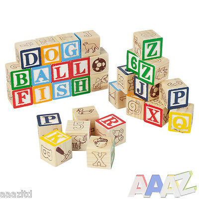 96 Boys Girls Childrens Letter Cubes Educational Toy Learn to Spell Spelling Aid