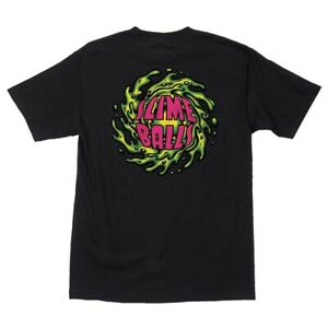 Santa-Cruz-SLIME-BALLS-NO-BALLS-NO-GLORY-Skateboard-T-Shirt-BLACK-XL