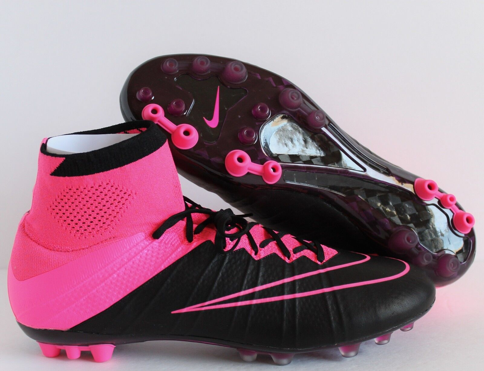 NIKE MERCURIAL SUPERFLY LTHR AG-R BLACK-HYPER PINK-PINK POW Price reduction Comfortable and good-looking
