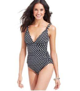 bagno intero Dot Sz Solutions Increspato Control 20 nero da Swim Tummy 10 Costume Polka AxYpwnqAfB