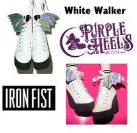 Iron Fist White Walker Hologram Bat Wing Platform Booties Uk3-8/eu36-41