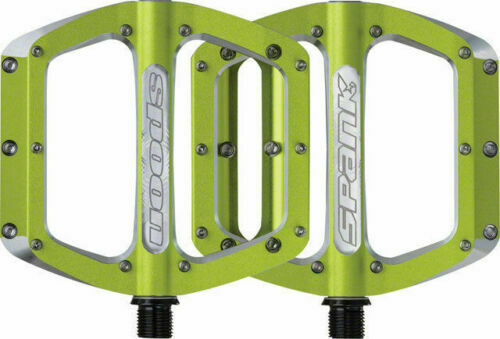 "Spank Spoon Large 110mm Race//Freeride//Trail//Mountain Bike 9//16/"" Pedals GREEN"