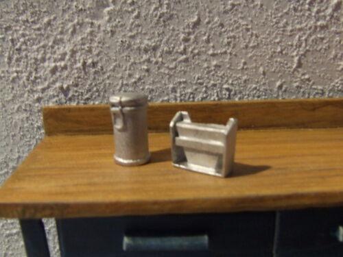Kaffeedose und Filtertüten - Deko für Tankstelle, Werkstatt usw. - Maßstab 1:18
