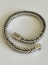 925 Sterling Silver Suarti Bali Beaded Cog Design Wheat Link Bracelet 8 34